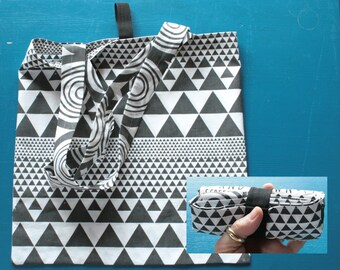 Tote Bag, Foldable Shopping Bag, Shoulder Tote, screen printed cotton canvas