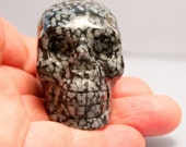 Snowflake Obsidian Crystal Skull 2 inches 50mm Clears Emotions, Protection Energies