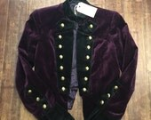 Vintage Anna Sui Velvet Jacket with gold buttons