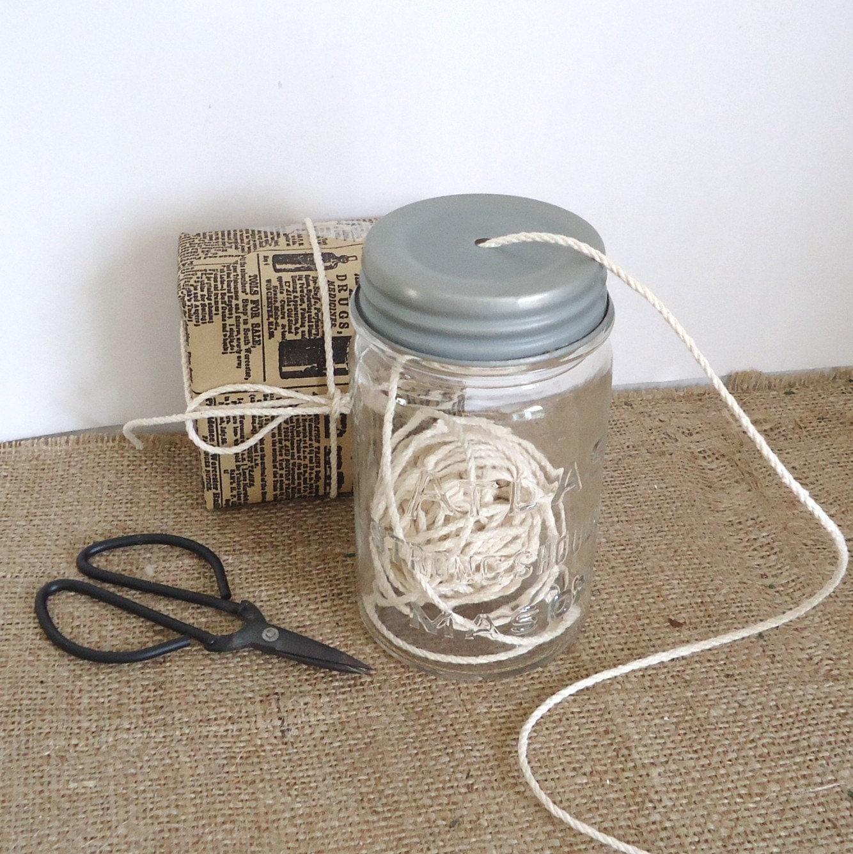 Organizer String Dispenser Vintage Mason Jar Cotton Twine