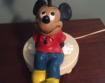 VINTAGE Mickey Mouse Lamp, The Dolly Company, 1980's