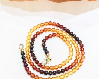Graduated Colour Amber Necklace