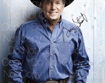 George Strait signed Country Singer 8X10 photo picture poster autograph RP
