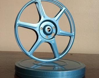 Vintage blue film reel