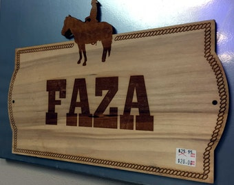 Custom Large Horse Name Plate Stall Barn Personalized Wood Sign