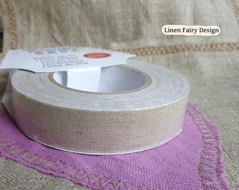 """Linen Tape Self Adhesive 15 mm/0,06"""" 5 m / 5,55 yds roll Scrapbooking Craft Decorations"""
