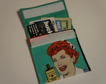 I LOVE LUCY Wallet Fabric Lucille Ball Credit Card Holder
