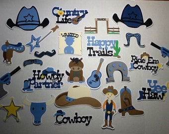 25 Pc. Cowboy Western Rodeo Country Photobooth Props