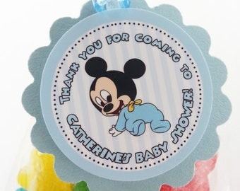 Personalized Baby Mickey Favor Tags