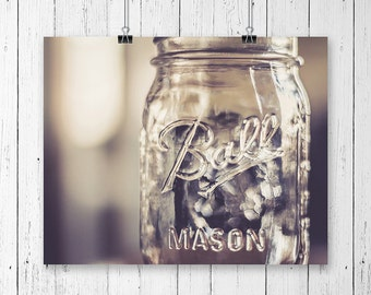 Mason Jar Decor Kitchen Wall Art Canning Jar Vintage Prints Gallery Wall Prints Ball Jar Shabby Chic Decor Still Life Photo Gallery Wall Art