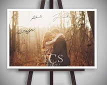 Guest signing photo-Custom Wedding Guest Sign-in, wedding idea custom designed wedding picture frame design, Vintage wedding photography