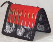 32 pair capacity Interchangeable knitting needle and crochet hook keeper case Harry Potter, sized to hold up to US 10.5