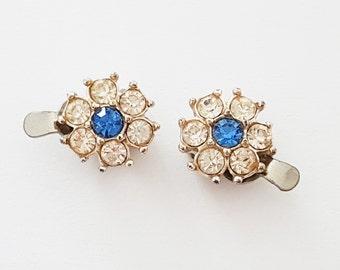 Small Rhinestone Flower Earrings