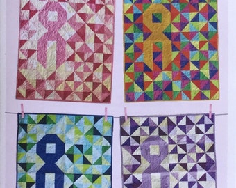 Cancer Ribbon Quilt Kit, lap size, full instructions, paper pattern