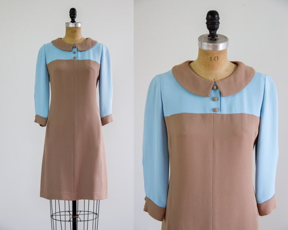 1960s dress | Leslie Fay dress | 60s mod dress small