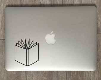 Open Book                 , Laptop Stickers, Laptop Decal, Macbook Decal, Car Decal, Vinyl Decal