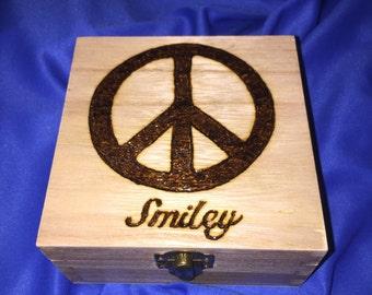 Peace image Keepsake Box