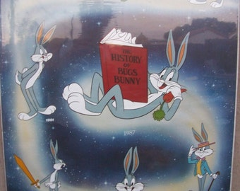 "BUGS BUNNY History Vintage 1987 Poster 22"" x 28"" New In Original Packaging"