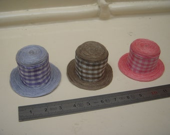 Hat miniature gingham 1/12 - 3 color choices