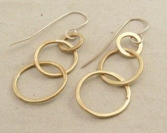 Brass chain link earrings