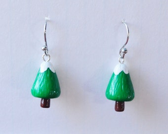 Christmas Earrings Pine Tree Earrings Christmas Tree Earrings  Polymer Clay Earrings
