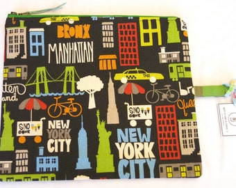 NYC Zipper Bag /  Travel Bag /  Great Gift for Him / Father's Day - 005