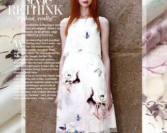 100%  Silk Organza Fabric silk  Fabric - 135 cm x 140 cm -ws- congcongnanian