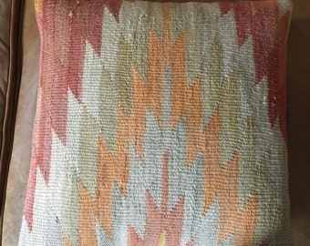"Vintage Kilim pillow 16 x 16"""