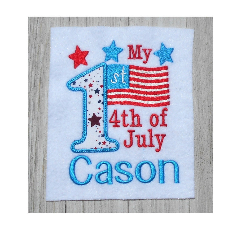 embroidery design my 1st 4th of july applique 2 size. Black Bedroom Furniture Sets. Home Design Ideas