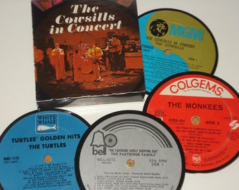 OLDIES Coasters -Bubblegum music vinyl record coasters