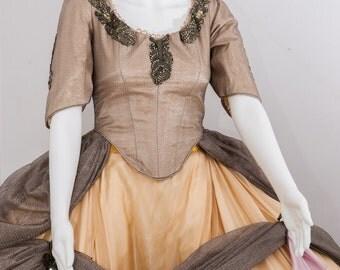 Gorgeous Gold  MARIE ANTOINETTE Women's Halloween Costume. Masquerade, Venice, 17th Century