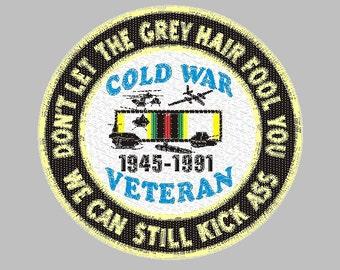 Cold War Veteran embroidery design