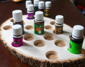 Essential Oil Storage, Wooden Essential Oil Holder, Oil Display, 15ml, Natural, Unfinished, Essential Oil Decor, Wood Round