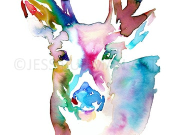 Deer Watercolor Painting Print, Deer Painting, Print of Deer, Watercolor Deer, Nursery Art, Buck Painting, Antlers Painting, Deer Print