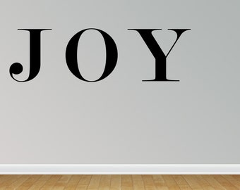 Wall Decal Joy Inspirational Quotes Wall Decals Joy Wall Sticker Joy Wall Quote Decal (JN134)