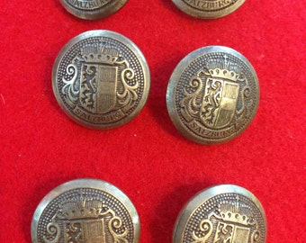 Salzburg Buttons Lot of 6 Vintage Good Condition
