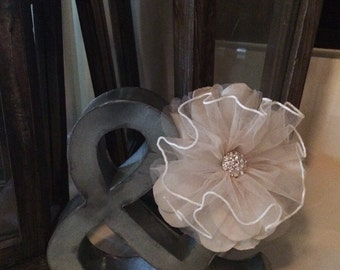 Handmade Bridal Hairpiece (From Brides Gown)