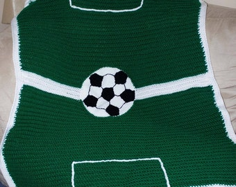Crocheted Soccer Blanket/ Soccer Ball/ Soccer player gift/