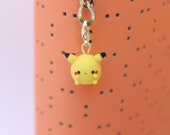 Cute Chubby Yellow Electric Mouse Miniature Charm