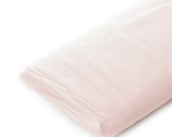 Light Pink Tulle Fabric, Wedding Tulle Fabric, Wholesale Tulle, Tulle Party Decoration Fabric, Tulle Net Fabric - 40 Yard Bolt - Style 801