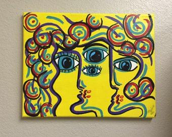 Abstract Face Art