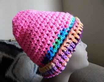 Multi-Colored Crochet Hat