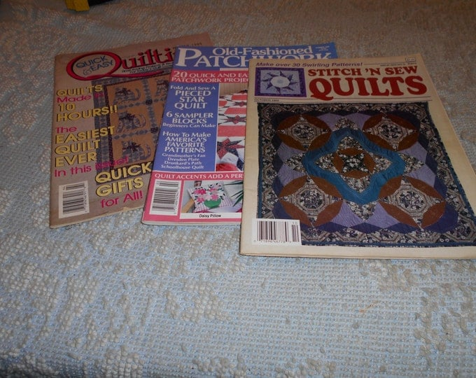 Old-Fashioned Patchwork, Quilting Quick & Easy, Stitch 'N Sew Quilts Magazine