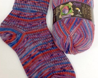 4ply sock yarn 100g from Opal Rainforest range - shade 9241 'Munchkin'
