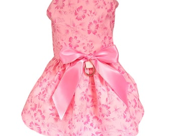 Dog Dress, Dog Clothing, Pet Clothing, Pink Flowers