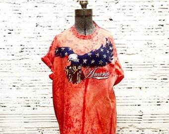 America Bleach Dyed Tee - XL