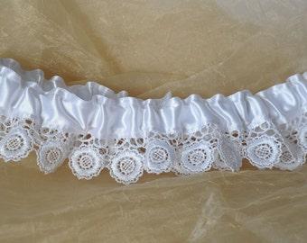 white garter bridal accessories wedding lingerie handmade garter floral lace garter wedding gift keepsake garter lace wedding garter
