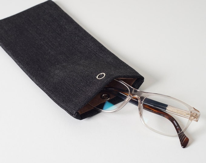 Glasses case - Black Denim