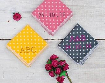 Personalised Hanky - personalized handkerchief - cotton anniversary - wedding anniversary - personalised accessory - wedding hanky - groom