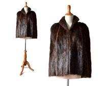 1940s Coat, Vintage Cape, Vintage Mink,  Beaver Cape, 1940s Vintage, 1940s Fur , Small, medium cape